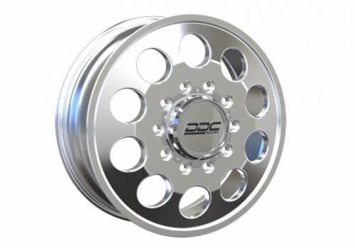 "DDC Wheels - The Hole Series Dually Wheels "" POLISHED"""