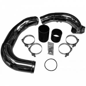 2008-2010 6.4L Powerstroke - No Limit Fabrication - No Limit Fabrication 6.4 Powerstroke Cold Side Intercooler Pipe and Elbow (Stainless)