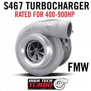 01-04 LB7 - TURBO UPGRADES - High Tech Turbo - S467/83 .90 FMW W/ Race Cover