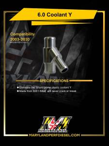MPD Products - Maryland Performance Diesel - MPD 03-07 Billet Coolant Y