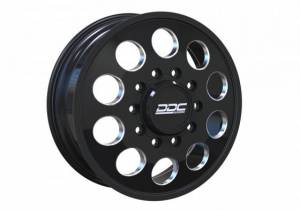 """The Hole Series Dually Wheels """"BLACK/MILLED"""""""