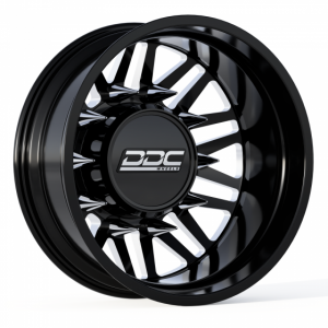 """The Aftermath Series Dually Wheels """" BLACK / MILLED """""""
